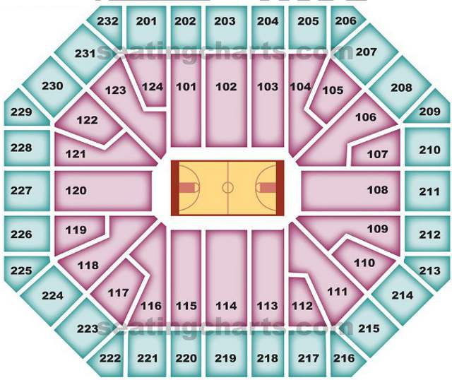 Phoenix Suns Seating Chart for US Airways Center